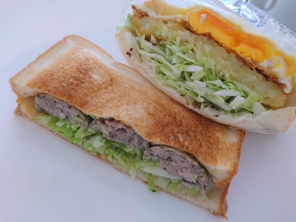 ホットサンドと普通のサンドイッチの比較
